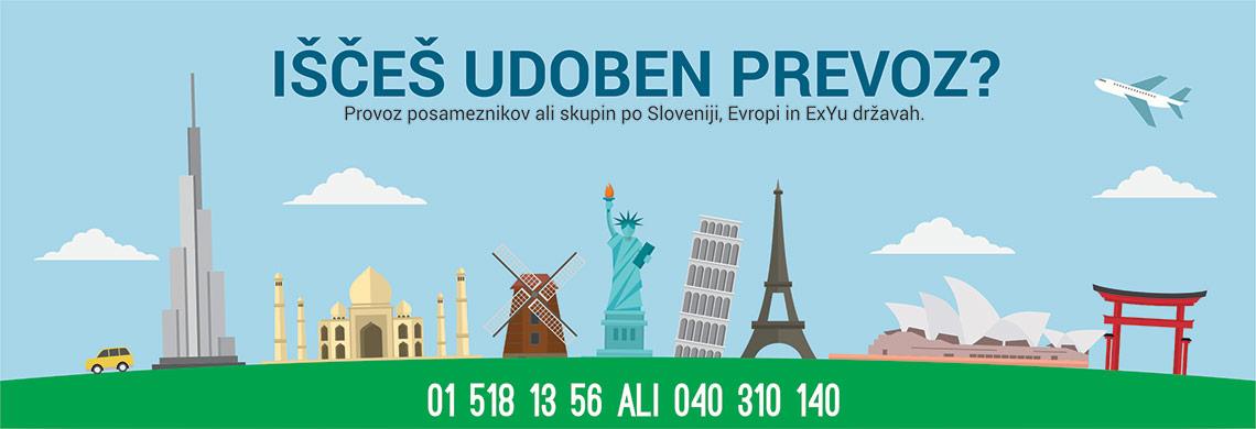 Prevozi oseb po sloveniji in evropi ter exyu